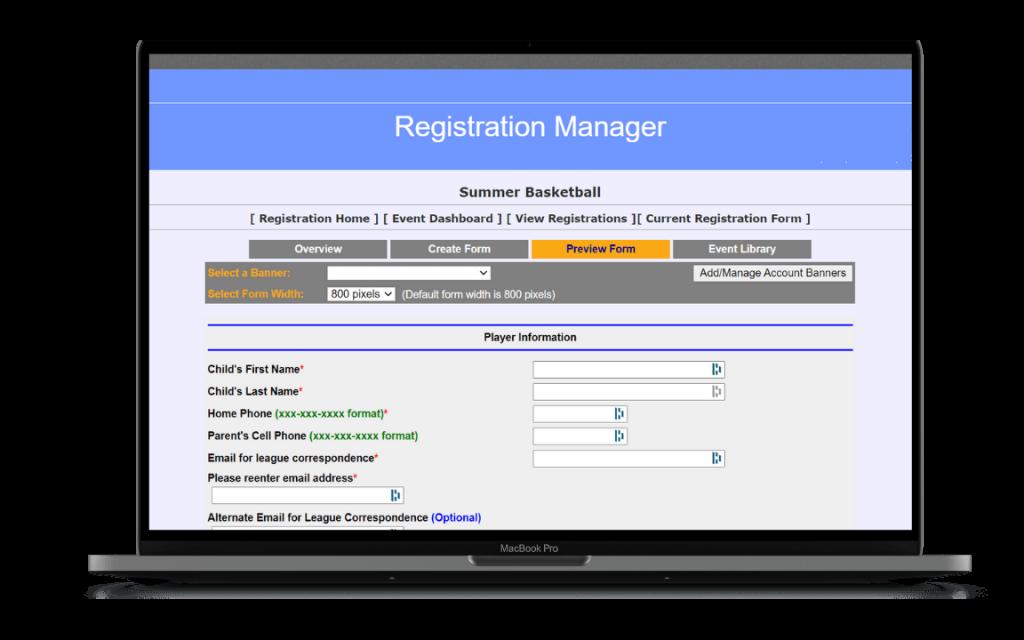 Online Registration Form Software